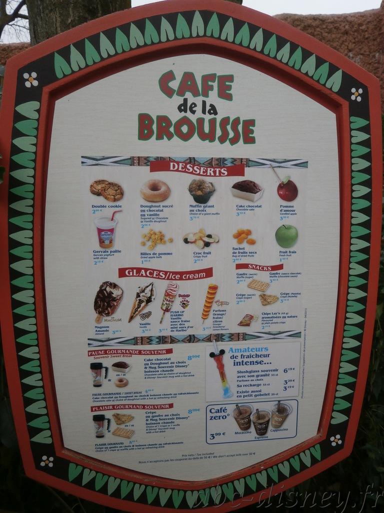 R café brousse carte
