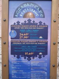 R Agrabah café carte