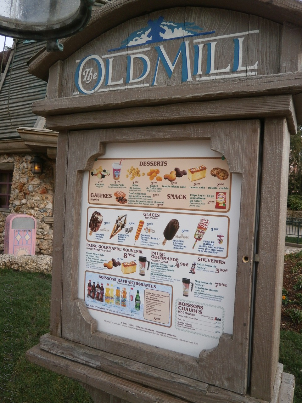 R old mill carte