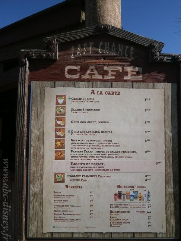 OLYMR lats chance café menu