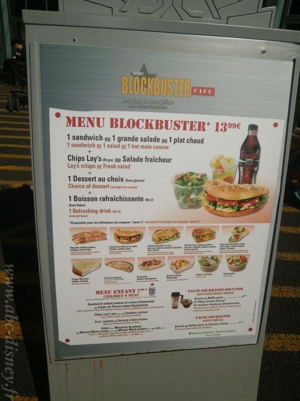 R blockbuster café menu1