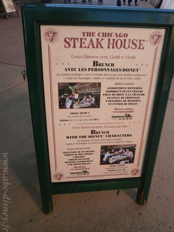R chicago steak house menu