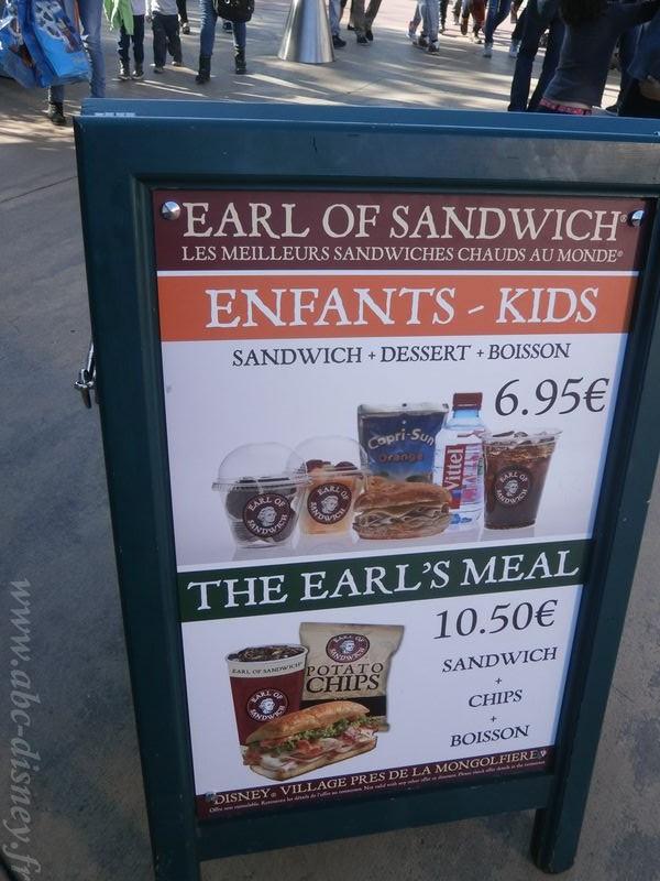 Earl menu